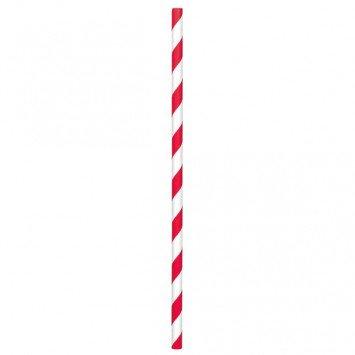 Paper Straws Red Stripes (24)
