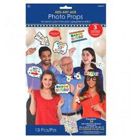 Rainbow Add-An-Age Photo Props