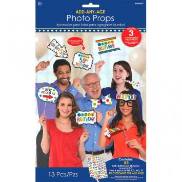 Rainbow Add-An-Age Photo Props