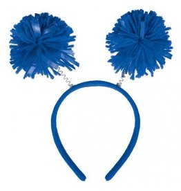 Blue Pom Pom Head Bopper