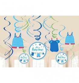 Shower With Love Boy Value Pack Foil Swirl Decorations