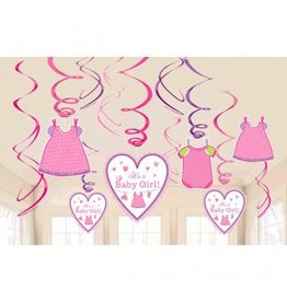 Shower With Love Girl Value Pack Foil Swirl Decorations