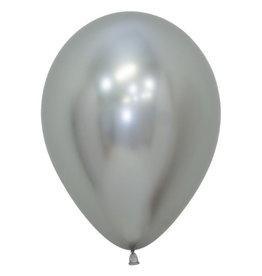 """Betallic 5"""" Chrome Silver Balloon"""
