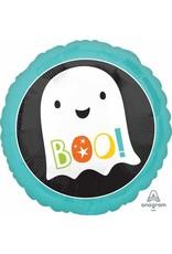 """Boo Ghost 18"""" Mylar Balloon"""