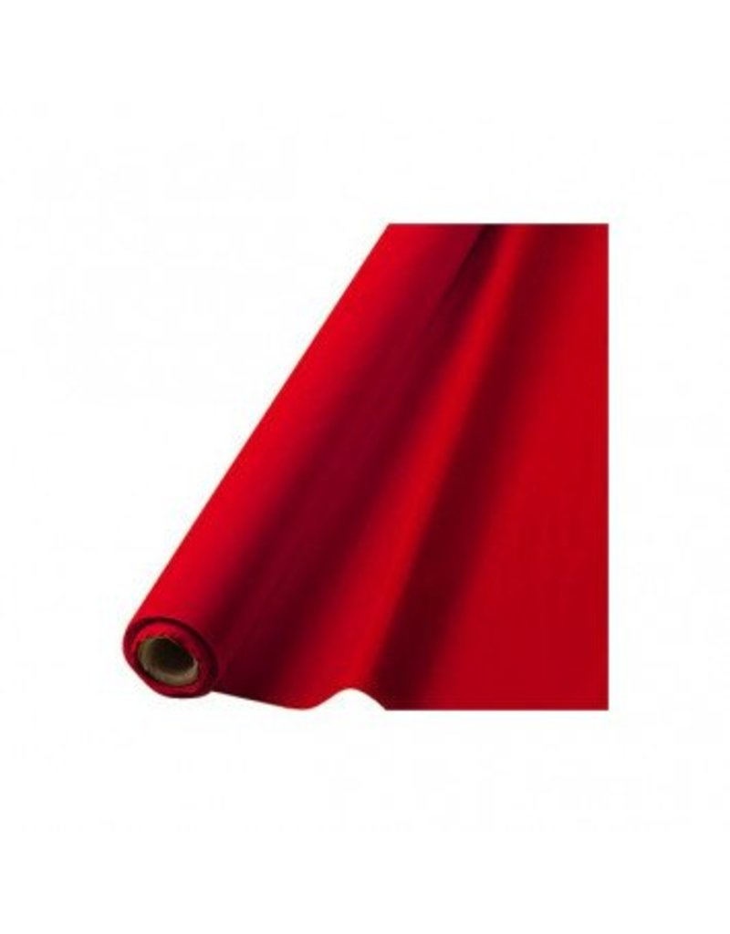 "Apple Red Solid Table Roll, 40"" x 100'"