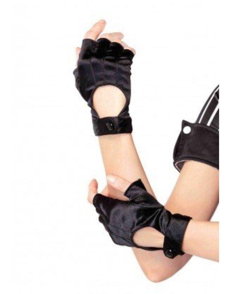 Black Fingerless Motorcycle Gloves