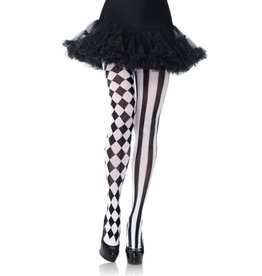 Black & White Harlequin Pantyhose