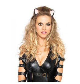 Black Latex Kitty Ear Headband