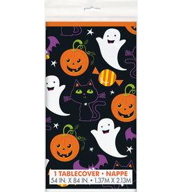 Cat & Pumpkin Plastic Tablecover
