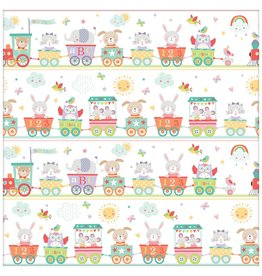 Train Baby Jumbo Gift Wrap (16ft by 30in)