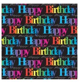 "Rainbow Birthday Jumbo Gift Wrap 1(6 Feet by 30"")"