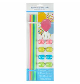Assorted Balloon Cup & Stick (8)