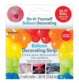 Balloon Decorating Strip - Clear, 25'