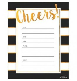 Golden Cheers Invitations Value Pack (20)