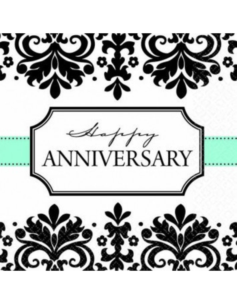 Always & Forever Happy Anniversary Beverage Napkins (16)
