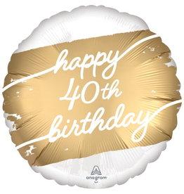 """Golden Age 40 Satin 18"""" Mylar Balloon"""
