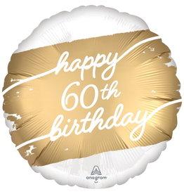 """Golden Age 60 Satin 18"""" Mylar Balloon"""