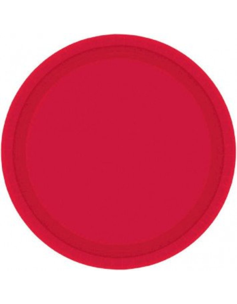 "Apple Red 7"" Paper Plate (20)"