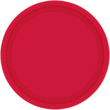 """Apple Red 7"""" Paper Plate (20)"""