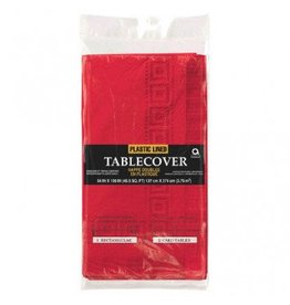 Apple Red Paper Tablecover