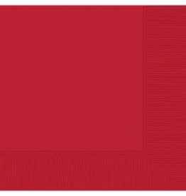Apple Red Beverage Napkins (50)