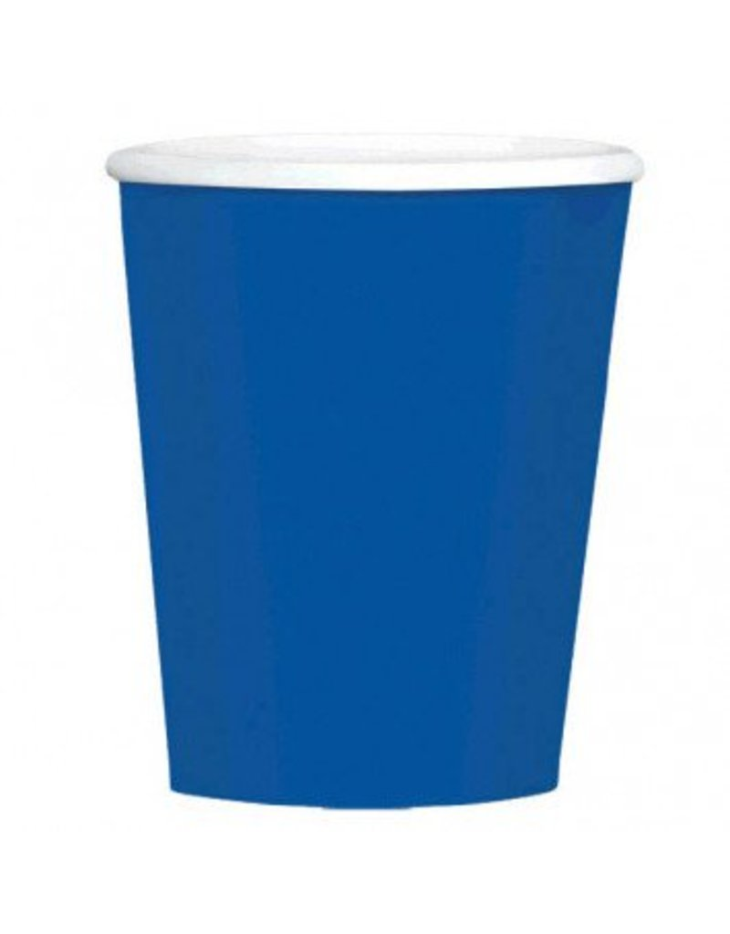Bright Royal Blue 9oz Paper Cup (8)