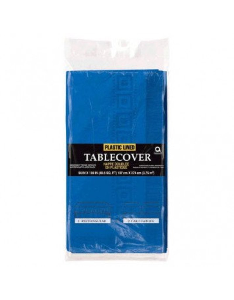 Bright Royal Blue Paper Tablecover