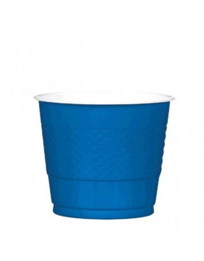 Bright Royal Blue 9oz Plastic Cup (20)