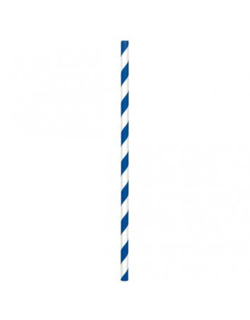 Paper Straws Bright Royal Blue (24)