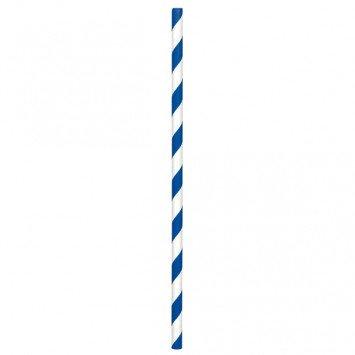 Paper Straws Bright Royal Blue (24)