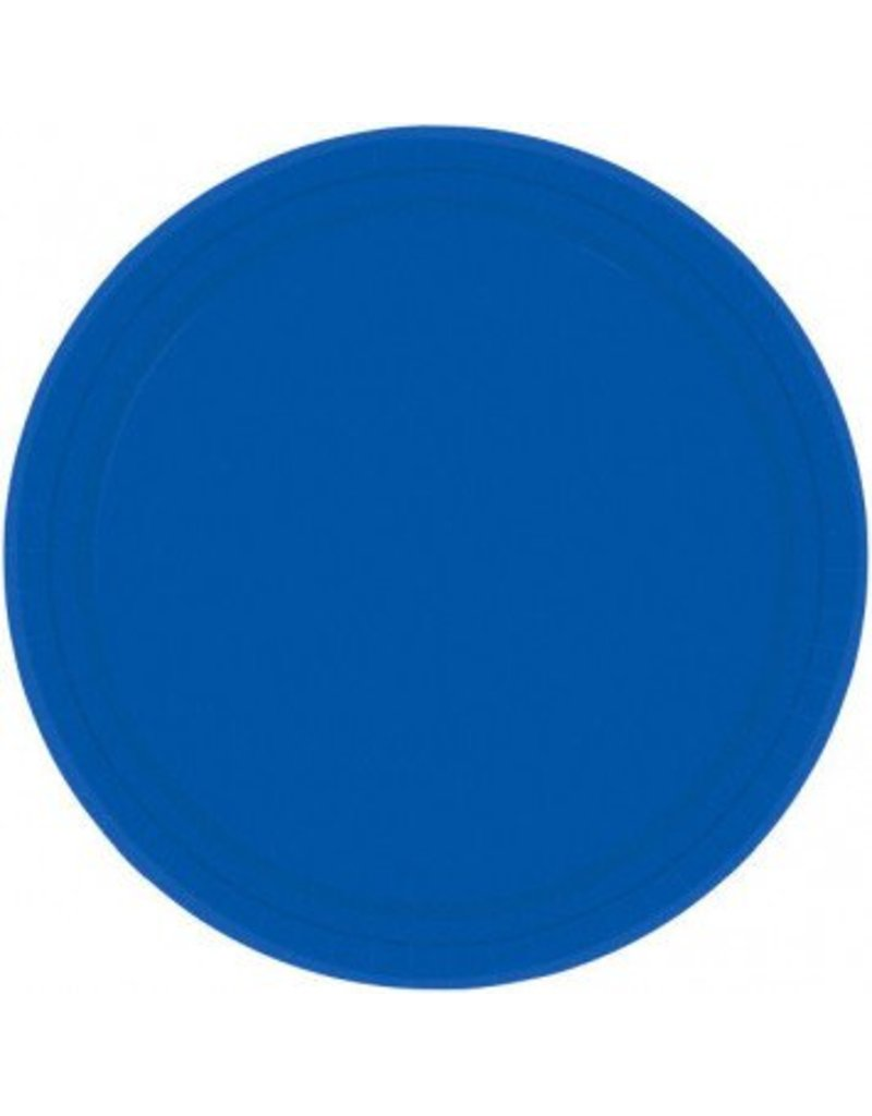 "Bright Royal Blue 7"" Paper Plate (20)"