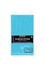 Caribbean Blue Rectangular Plastic Tablecover