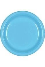 "Caribbean Blue 9"" Plastic Plate (20)"