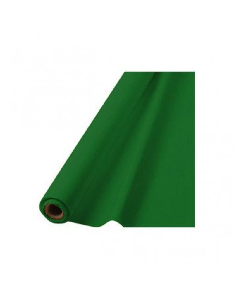"Festive Green Solid Table Roll, 40"" x 100'"