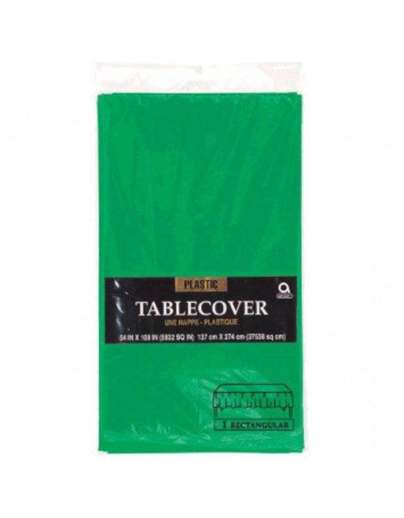 Festive Green Rectangular Plastic Tablecover
