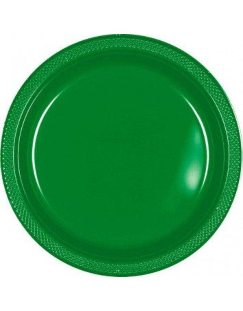 "Festive Green 10.25"" Plastic Plate (20)"