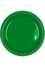 "Festive Green 7"" Plastic Plate (20)"