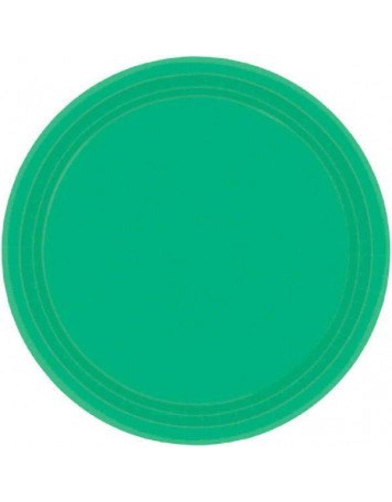 "Festive Green 7"" Paper Plate (20)"