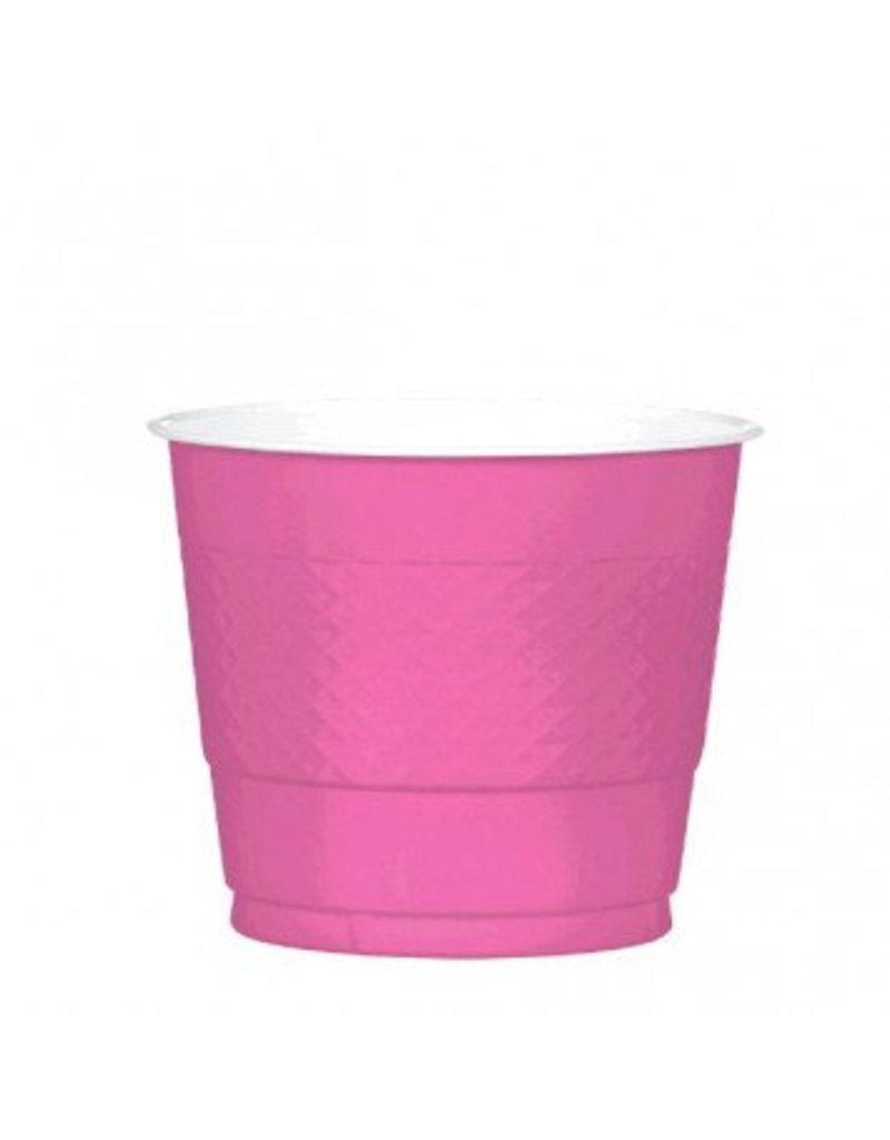 Bright Pink 9oz Plastic Cup (20)