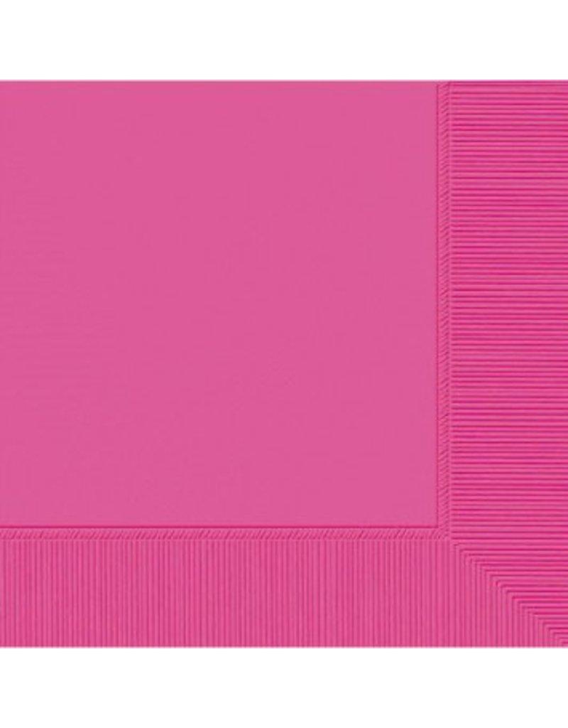 Bright Pink Beverage Napkins (20)