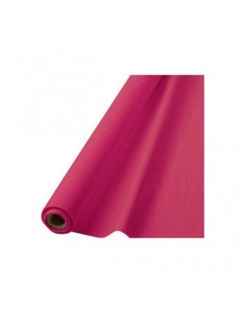 "Bright Pink Solid Table Roll, 40"" x 100'"