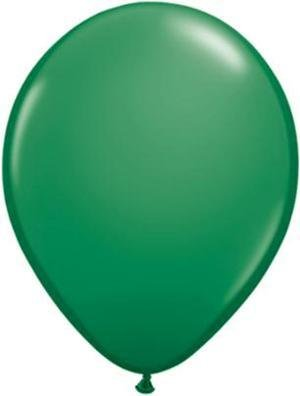 "5"" Balloon Green 1 Dozen Flat"