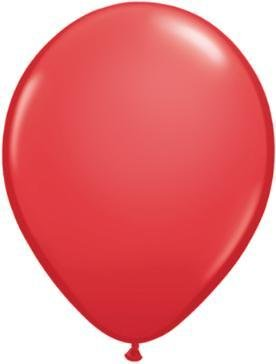"5"" Balloon Red 1 Dozen Flat"