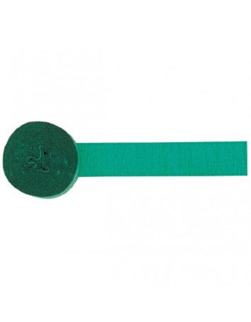 Festive Green Crepe Streamer 81''