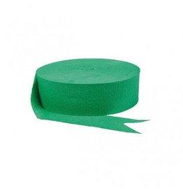 Festive Green Jumbo Solid Crepe Streamer