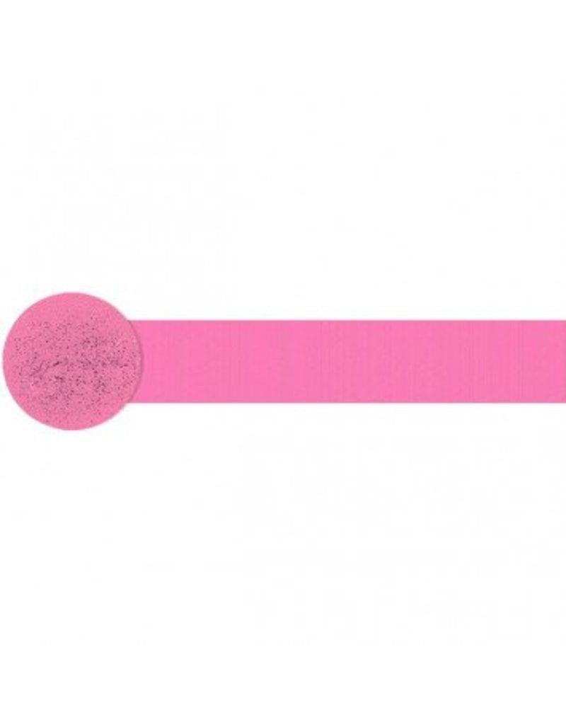 Bright Pink Crepe Streamer 81'