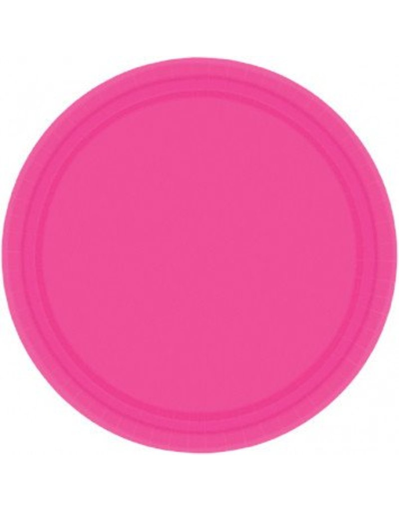 """Bright Pink 7"""" Paper Plate (20)"""