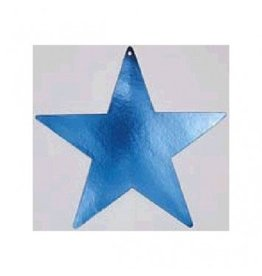 Blue Foil Star Cutouts 5""
