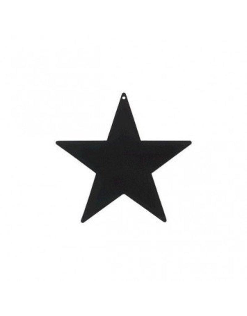 "Black Foil Star Cutouts 9"""