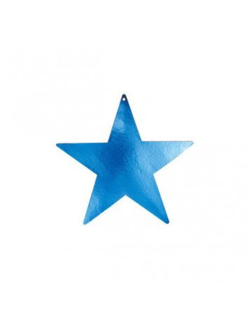Blue Foil Star Cutouts 9""